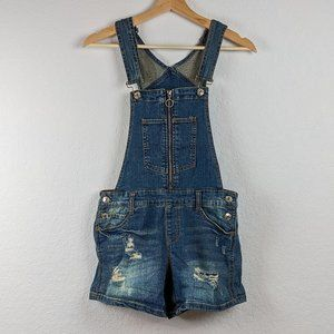 💚 Almost Famous Shortall Distressed Overalls 1